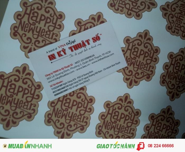 Ngoài in ấn, In Kỹ Thuật Số còn hỗ trợ việc bế thành phẩm sticker, sticker sau...