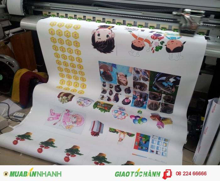 In stiker đa dạng mẫu, số lượng nhiều được in trên máy in khổ lớn tại In K�...