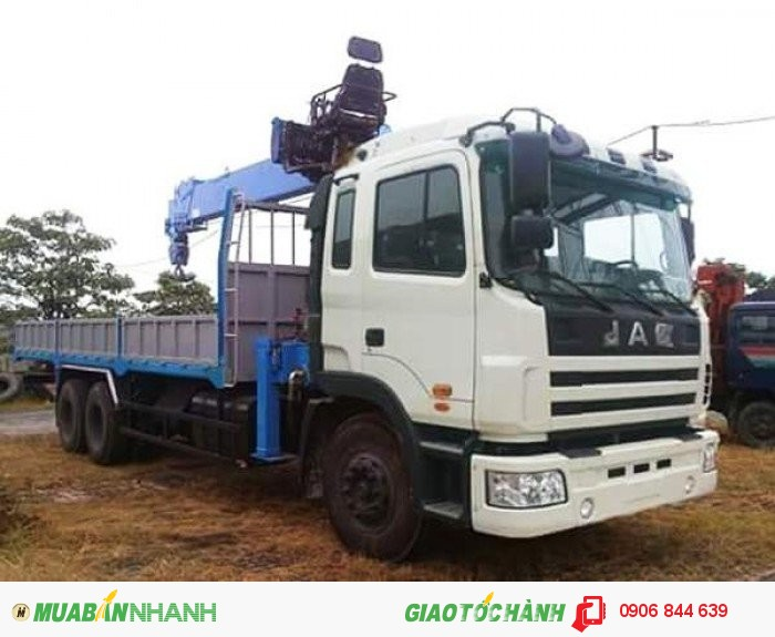 Xe tải Jac 3 chân lắp cẩu/mua trả góp xe tải cẩu Jac 12 tấn
