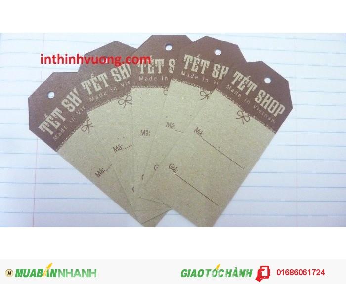 In thẻ bài, mác giấy, mác vải, mác cổ, mác sườn cho các shop thời trang