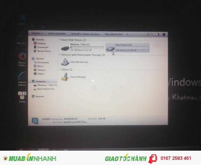 Laptop dell inprion 1318 ram 2g hdd 250 gb chíp cure 2 t5800 nhân 2.1hz1