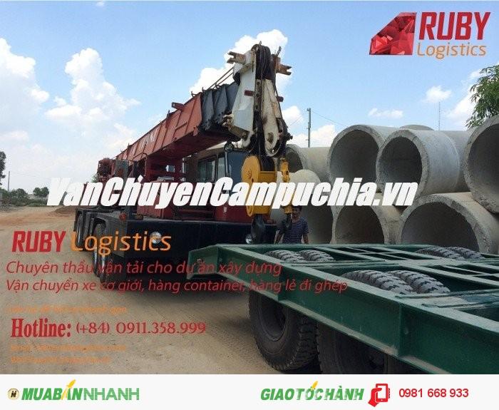 Chành xe liên vận chuyên vận chuydển hàng hóa đi Campuchia
