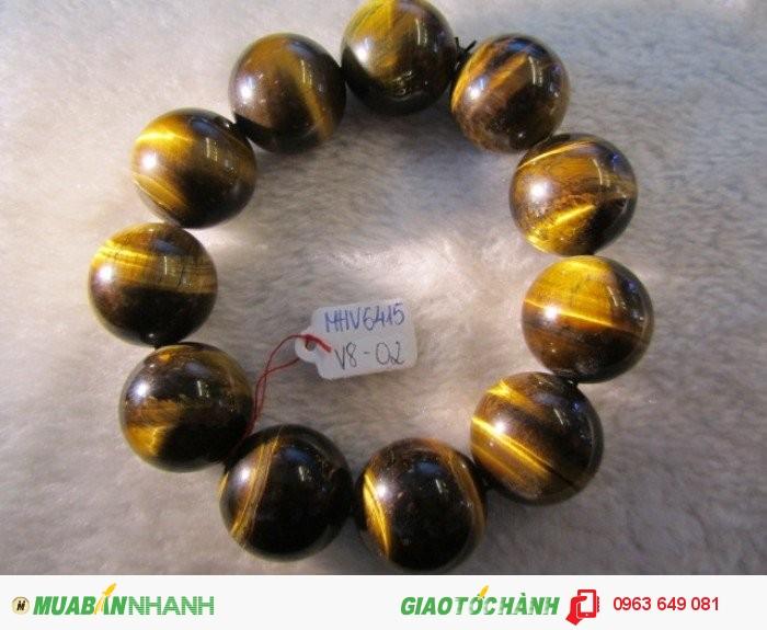 Vòng đeo tay đá Mắt Hổ Vàng thiên nhiên hạt tròn 20ly1