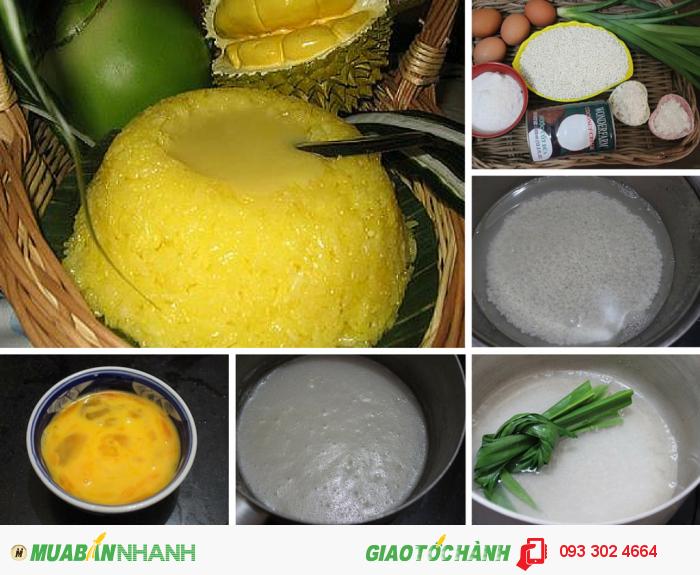 Xôi xiêm Phúc Lộc Thọ | Nguyên liệu: Gạo nếp Thái, bột mỳ, trứng vịt, đườ...