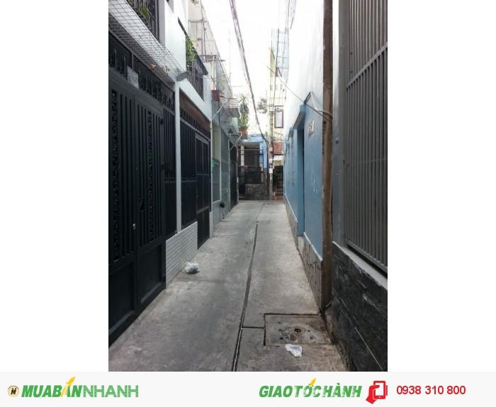 Bán nhà 1lầu Hậu Giang, P.12, Q.6, Dt 3.6x6.2m, hướng Tây, giá 1.15 tỷ/TL