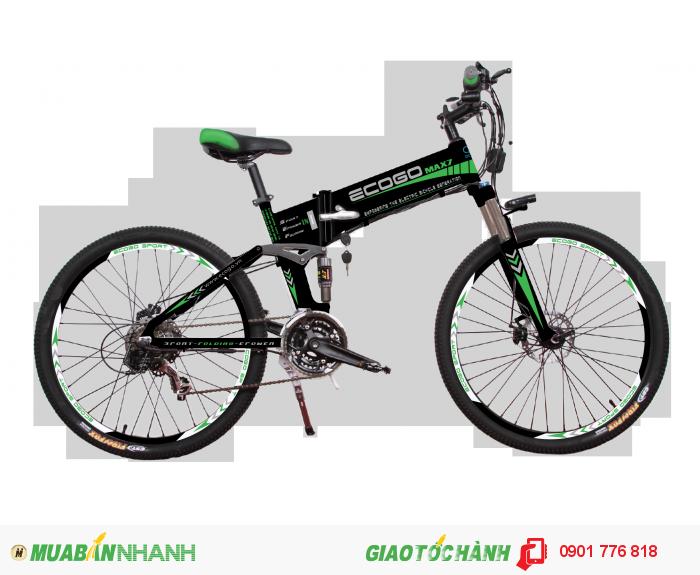 MAX 7 là dòng xe đạp thể thao điện gấp cao cấp mang thương hiệu ECOGO, được sản xuất từ hợp kim nhôm siêu bền, siêu nhẹ, có khả năng gấp gọn, có thể sử dụng cho việc tập luyện thể thao, đi phượt, đi làm, đi chơi với chức năng điện hiện đại và pin poly-lithium siêu bền. Xe phù hợp với những người ưa chinh phục những cung đường, những người muốn trải nghiệm sự tiện lợi, tốc độ, nam tính và mạnh mẽ. MAX 7 – chinh phục mọi địa hình và thời tiết. Khung xe  HỢP KIM NHÔM 6061-T6 CAO CẤP Kích cỡ mở  175 x 60 x 110 cm Kích cỡ gấp  105 x 60 x 90 cm Màu sắc  ĐEN Phuộc  CÓ Phuộc trước  Phuộc nhún SOV có Lock Phuộc sau  Phuộc nhún HLT100 Yên  YÊN DA MỀM CÓ LỖ THOÁNGc Giàn đầu  CÓ Phốt tăng  HỢP KIM NHÔM GIỮ GHI ĐÔNG BẰNG MẶT BÍCH Ghi đông  HỢP KIM NHÔM, NGẮN, CONG NÔNG Chén cổ  HỢP KIM NHÔM Bộ truyền động  CÓ Đề trước  bộ đề SHIMANO 21 tốc độ Bộ đùi đĩa  HỢP KIM NHÔM 170 Xích, líp xe  Shimano KMC Hệ thống bánh  CÓ Vành xe  Vành nhôm 6061-T6, 2 lớp ARRIV 26 x 1.75 Nan hoa  HỢP KIM THÉP CAO CẤP Săm lốp  CST 26x1,95 Moay ơ  Moay ơ trước hợp kim nhôm ASSESS dùng vòng bạc Moay ơ sau là motor điện Phanh  CÓ Phanh trước  Phanh đĩa WINZIP, đĩa 160 Phanh sau  Phanh đĩa WINZIP, đĩa 160 Tay phanh  Tay phanh điện Winzip Hệ thống điện  CÓ Nguồn nuôi  PIN LITHIUM CAO CẤP Điện áp  36V Dung lượng  8Ah Motor  BLDC 36V Công suất  240W Loại xe  ĐIỆN THỂ THAO Bảng điều khiển  LCD Đèn  CÓ Còi  CÓ Vận tốc tối đa  30Km/h Tải trọng tối đa  120KG Trọng lượng xe  19,7KG Quãng đường đi được  50KM