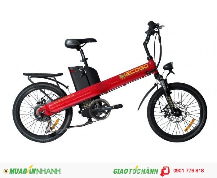 Giá bán: 218̶̶0̶̶0̶̶0̶̶0̶̶0̶̶v̶̶n̶̶đ̶ Giá KM : 17,800,000 vnđ Tặng kèm: sạc dự phòng 2500 mA  MAX 6 là model xe đạp điện của thương hiệu ECOGO được thiết kế trên ý tưởng chiếc xe có khung thẳng suốt và khung là điểm nhấn của MAX 6 mang tạo nên một kiểu dáng thể thao khác biệt với tất cả những chiếc xe đạp thể thao hiện có, khung xe được làm bàng hợp kim nhôm cao cấp nguyên khối nhẹ, có độ bền cao.Điểm khác biệt của Max 6 so với các dòng xe đạp điện khác là kích cỡ xe nhỏ hơn, phù hợp cho phái nữ và vóc dáng châu Á. Hãy là một công dân năng động yêu môi trường với xe đạp thể thao điện gấp ECOGO MAX 6 Tính năng nổi bât: Xe đạp điện, xe đạp thể thao Khung xe là hợp kim nhôm nguyên khối – nhẹ và bền Bộ truyền chuyển động cao cấp Shimano Nexus Phuộc nhún RST - Ghi đông, phốt tăng, chén cổ hợp kim nhôm - Bộ chuyển động Shimano Tourney 7 tốc độ. - Đùi đĩa hợp kim nhôm 170 - Phanh trước, phanh sau tektro - Động cơ không chổi than: 240W - Pin : 36V- 10A - Vận tốc 25km/h