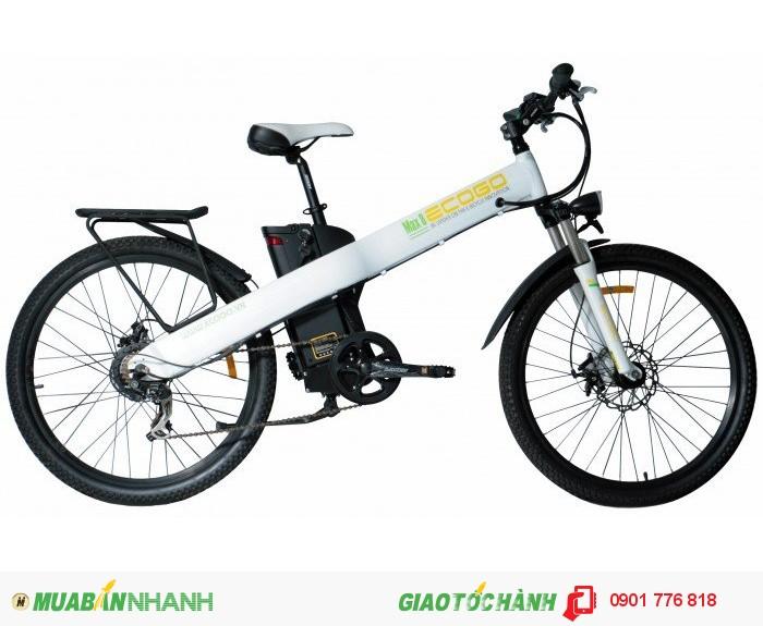 Giá bán: 2̶̶4̶̶9̶̶0̶̶0̶̶0̶̶0̶̶0̶ ̶v̶̶n̶̶đ̶ Giá KM : 19,800,000 vnđ(giảm thêm 1tr khi mua tại cửa hàng) Tặng kèm: sạc dự phòng 2500 mA  MAX 8 là model xe đạp điện thể thao của thương hiệu ECOGO được thiết kế trên ý tưởng chiếc xe có khung thẳng suốt và xe cũng là điểm nhấn của xe, MAX 8 thực sự là chiếc xe đạp thể thao với kiểu dáng mạnh mẽ nhưng tinh tế đến từng chi tiết tạo nên thiết kế khác biệt với những dòng xe đạp thể thao đương đại, khung xe được làm bằng hợp kim nhôm cao cấp nguyên khối nhẹ, có độ bền cao.Xe phù hợp với việc đi làm đi dã ngoại, di dạo chơi, đi làm, tập luyện thể thao, bận hành nhẹ nhàng phong cách hiện đại và thời trang. MAX 8 – trải nghiệm cuộc sống hiện đại với phong cách vượt trội . Tính năng nổi bật: Xe đạp thể thao, xe đạp điện Khung xe là hợp kim nhôm nguyên khối cao cấp Bộ truyền động Shimano cao cấp Phuộc nhún RST - Ghi đông, phốt tăng, chén cổ hợp kim nhôm - Bộ chuyển động Shimano Tourney 7 tốc độ. - Đùi đĩa hợp kim nhôm 170 - Phanh trước, phanh sau tektro - Động cơ không chổi than: 240W - Pin : 36V- 10A - Vận tốc 25 - 30 km/h