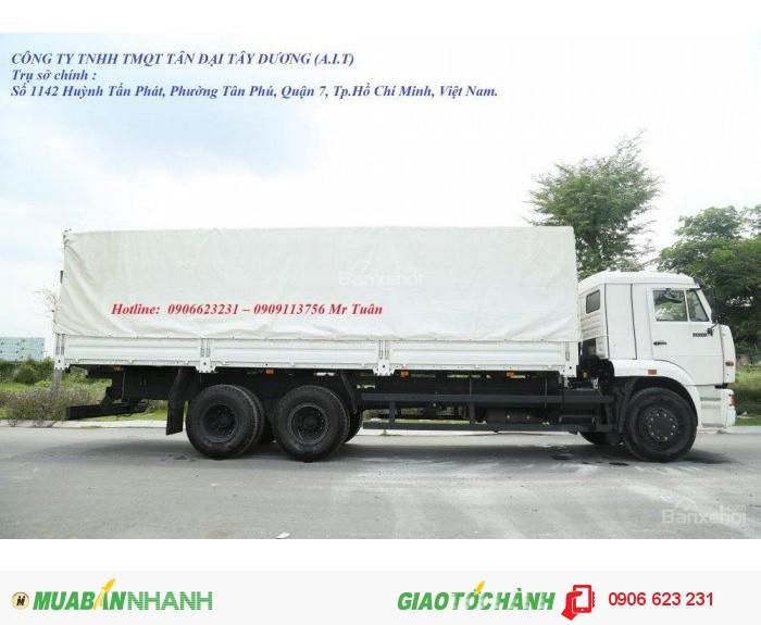 Bán tải thùng Kamaz 15 tấn tại Bình Phước | Bán xe tải Kamaz 65117 (6x4) thùng 7m8 tại Bình Phước [ Xe 3 chân]