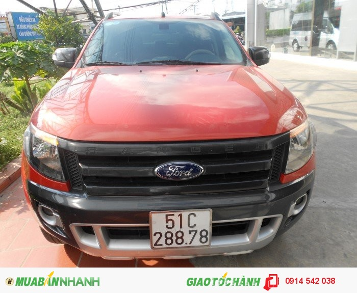 Bán Ford Ranger Wiltrack sx 2013 màu cam canopy 0