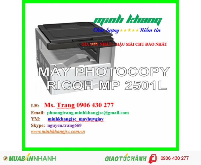 Máy Photocopy Ricoh Mp 2501L Đa Chức Năng Copy 2 Mặt, In 2 Mặt, Scan Màu Giá Rẻ0