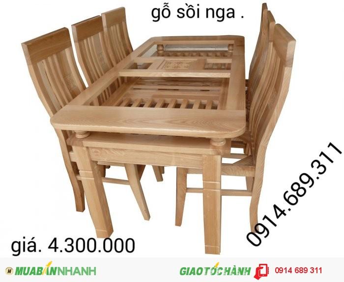 bàn ghế ăn gỗ xoan1