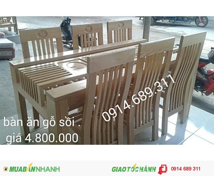 bàn ghế ăn gỗ xoan3