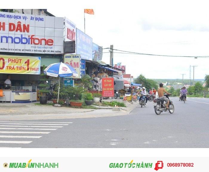 Bán 600m2 đất mặt tiền đường Mỹ Phước Tân Vạn, Có Lô Góc, vị trí đẹp , tiện xây khách sạn