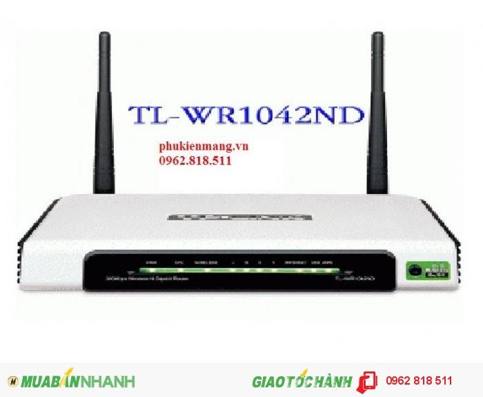 WIFI TPlink – WR1042ND. Bộ phát 300Mb. giá rẻ nhất thị trường0