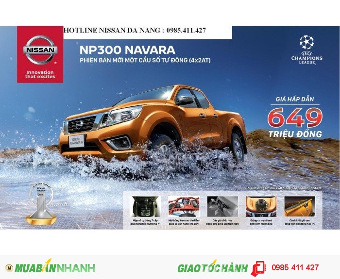 Pickup NP300 Navara 2.5EL,SỐ TỰ ĐỘNG 1 CẦU,Khuyến mãi hấp dẫn