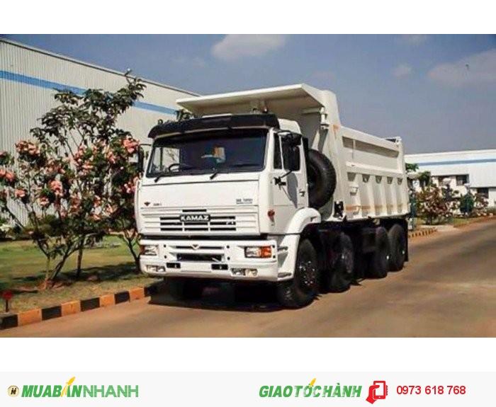 Bán xe ben Kamaz 6540 8x4 tải trọng 20 Tấn 15 khối
