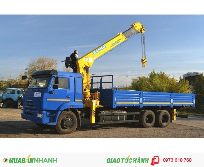 Kamaz 65117 (6x4) 15 tấn thùng mui bạt 2016