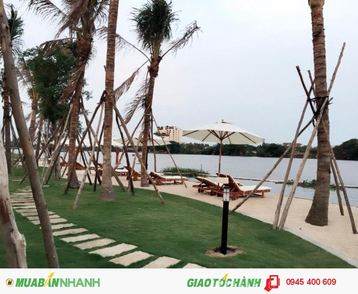 Căn hộ tiêu chuẩn resort, 3view được bao bọc bởi sông Sài Gòn