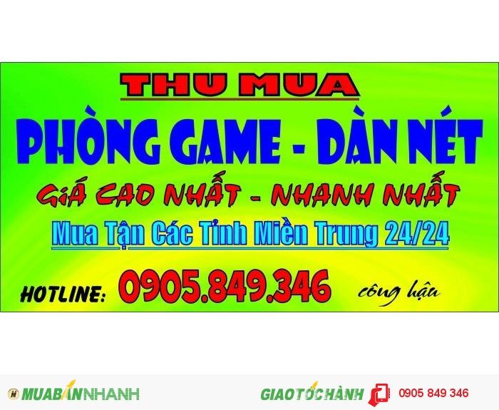 Chuyên thu mua phòng nét - dàn game cũ giá cao nhất tại Đà Nẵng