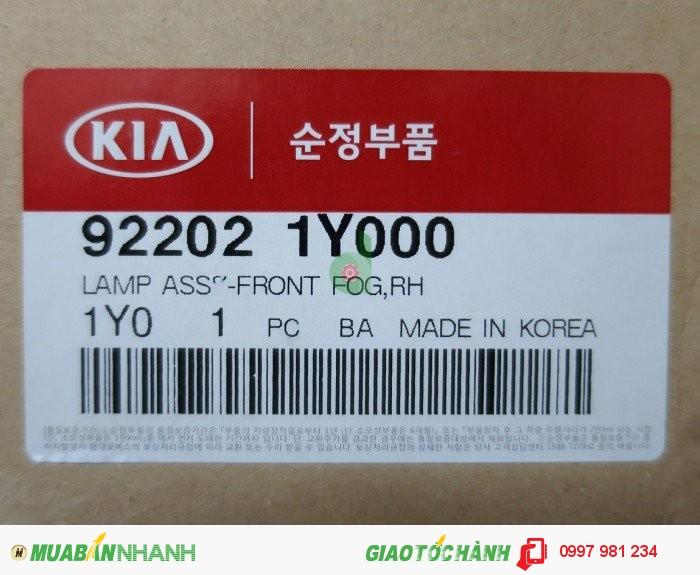 Đèn cản trước Kia Morning 2012, 922011Y000, 922021Y000, (đèn gầm, đèn sương mù).