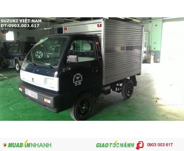 Cần Bán Suzuki Carry Truck 650kg Màu Xanh Thùng Kín Inox, Xe Mới