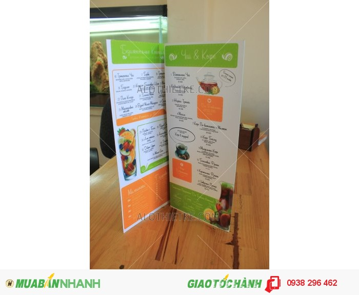 Thiết kế thực đơn menu nhà hàng, quán ăn