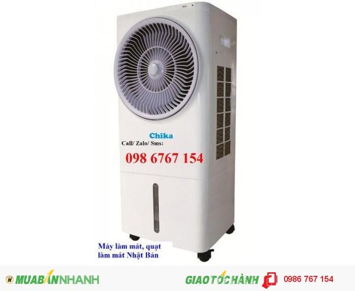 Máy làm mát Chika CK16B làm mát không khí bằng hơi nước tiết kiệm điện năng tới 9 lần so với máy điều hòa nhiệt độ. Máy thích hợp sử dụng cho văn phòng, phòng ngủ, phòng khách, phòng ăn, văn phòng,...