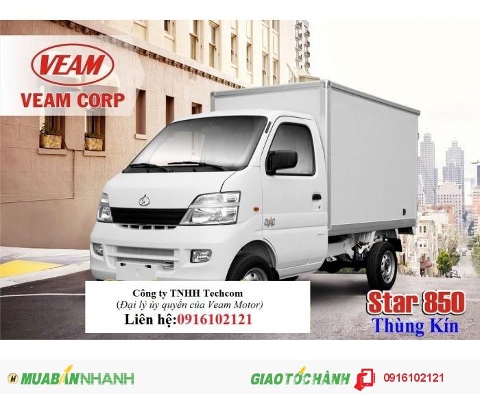 Bán xe tải nhẹ 8 tạ Veam star, thùng dài 2,2 m chất lượng cao, giá tốt