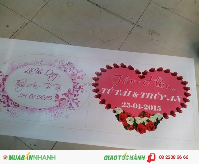 Thành phẩm in PP các mẫu bảng lễ Vu Quy tại nhà gái và lễ Thành hôn tại nhà tr...