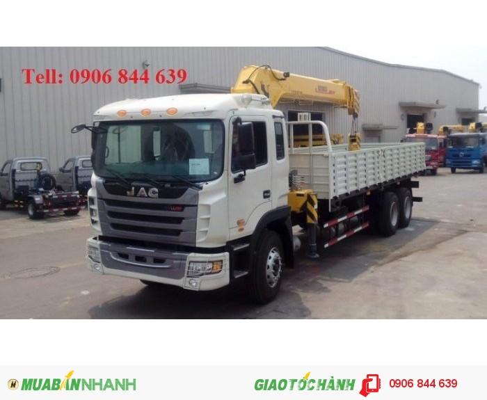 Giá bán xe tải Jac 11 tấn Gắn cẩu, xe tải Jac 11.4 tấn gắn cẩu giá tốt 0