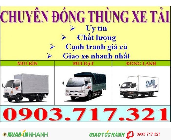 Đóng thùng xe tải tại Tp.HCM. Nhận sửa chữa các loại thùng xe tải giá cạnh tranh