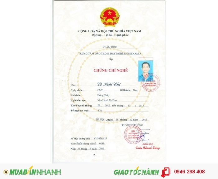 Khóa học lái máy đào, cấp nhanh chứng chỉ lái máy đào uy tín trên toàn quốc