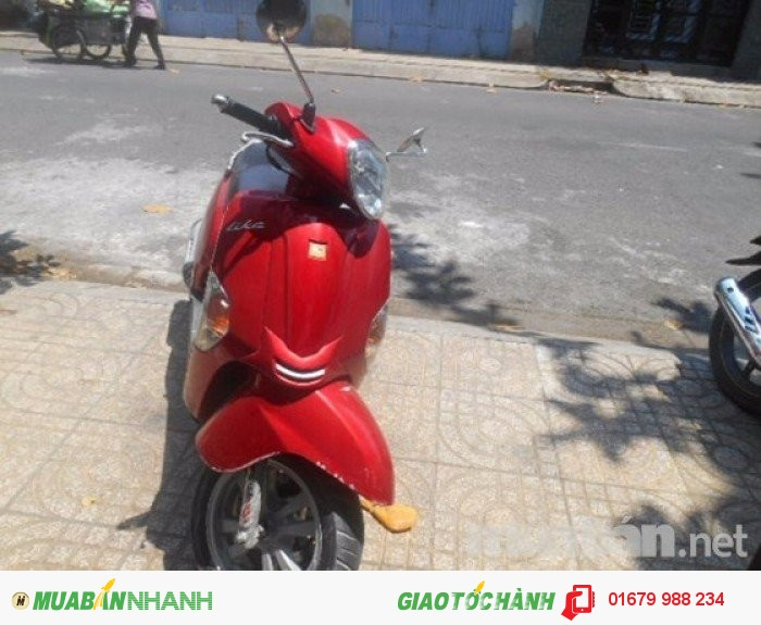 Bán xe Kymco Like tay ga 125cc còn mới cáu, không trầy, dán keo, Xe hàng nhập đời 2010, xe đỏ