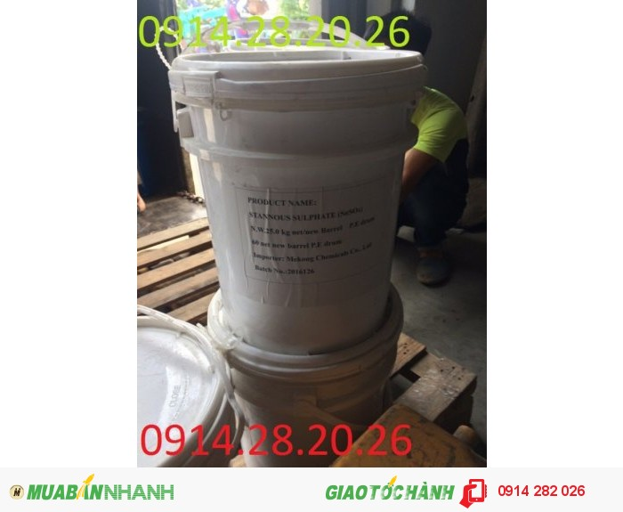 Bán Thiếc Sunphat (Stannous Sulfate)-SnSO40