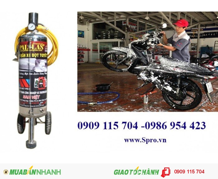 Tư vấn mở tiệm rửa xe với trọn bộ thiết bị rửa xe máy chuyên nghiệp