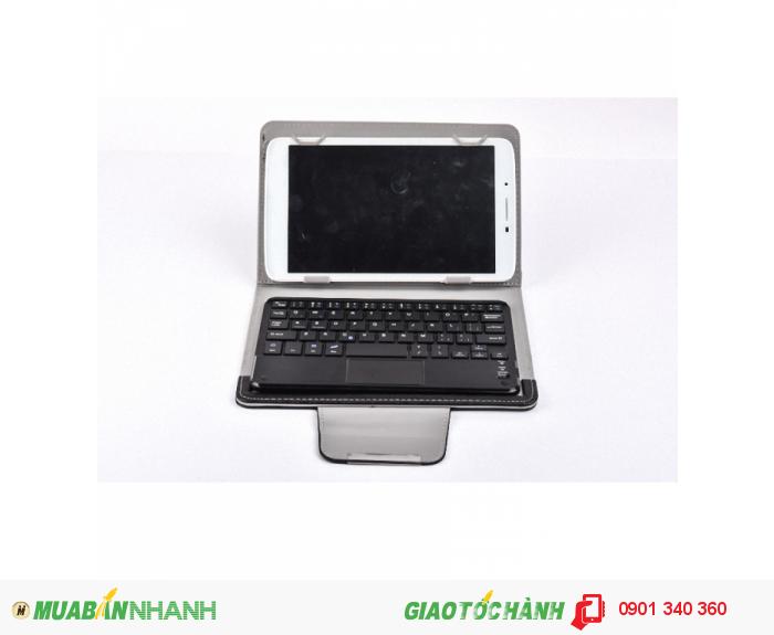Bao da bàn phím bluetooth 8 inch có touchpad (Đen)