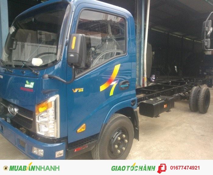 Xe tải vào TP, Xe Tải Veam VT260 1T9 thùng dài 6m1, veam vt260 đời 2016