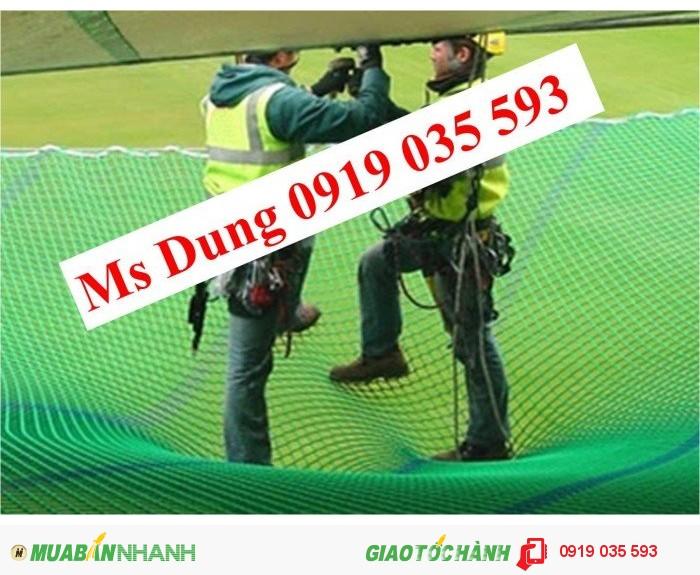 Lưới cản người rơi lưới chống vật rơi lưới an toàn xây dựng2