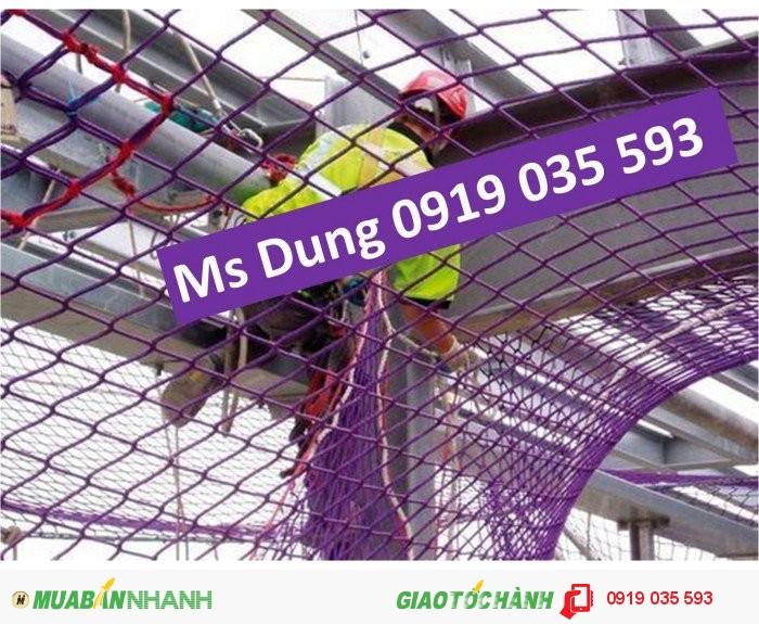 Lưới cản người rơi lưới chống vật rơi lưới an toàn xây dựng3