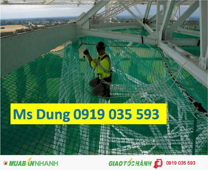 Lưới cản người rơi lưới chống vật rơi lưới an toàn xây dựng4