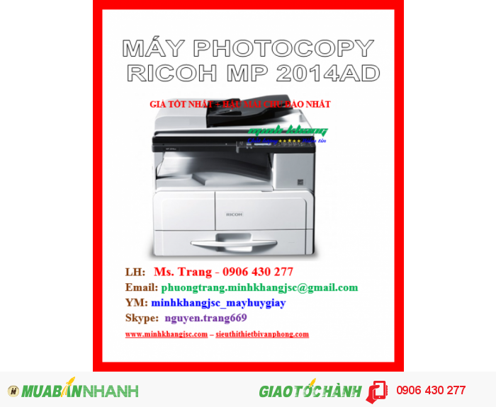 MÁY PHOTOCOPY RICOH MP 2014AD4