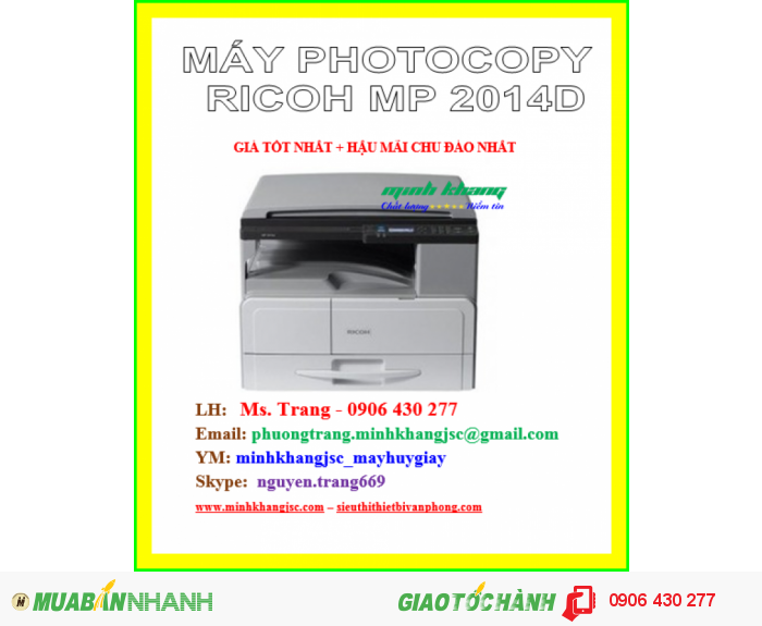 MÁY PHOTOCOPY RICOH MP 2014D0