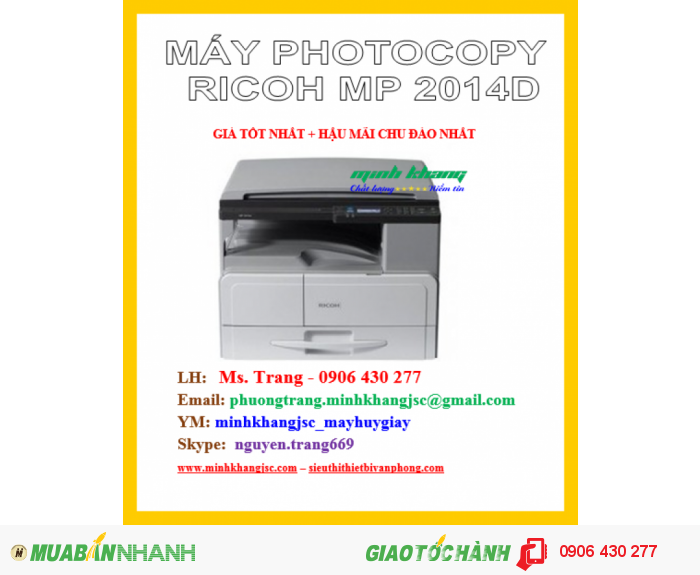 MÁY PHOTOCOPY RICOH MP 2014D2