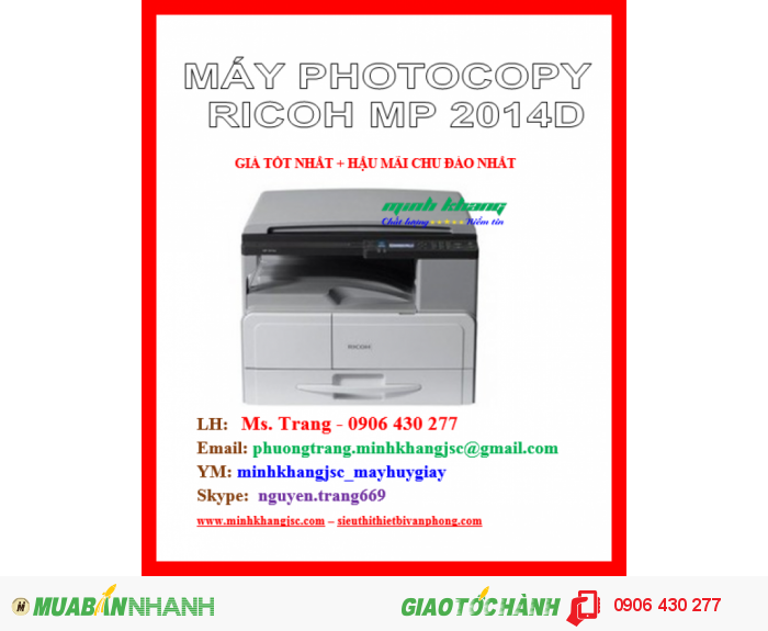 MÁY PHOTOCOPY RICOH MP 2014D4