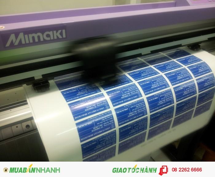 Tốc độ bế tem decal, tem nhãn trên máy bế Mimaki là rất nhanh | Hỗ trợ khách hàng đặt in nhanh chóng có được thành phẩm in hoàn chỉnh | Máy bế Mimaki tại In Kỹ Thuật Số có 2 khổ, máy bế Mimaki khổ lớn chuyên bế cho các đơn hàng nhiều, đơn hàng số lượng lớn | Máy bế Mimaki nhỏ bế cho các tem nhãn có độ chi tiết hoa văn phức tạp, khổ in nhỏ hơn.