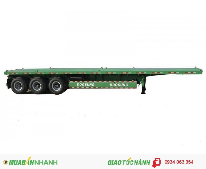 Sơ mi rơ mooc sàn ( chở container)DOOSUNG 40 feet, 3 trục Giao Xe Toàn Quốc