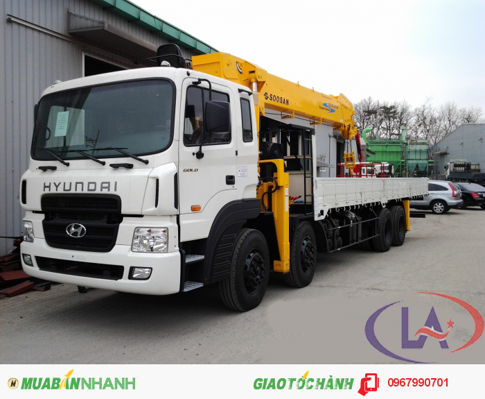 Hyundai HD320 gắn cẩu Soosan SCS1015LS 10 tấn