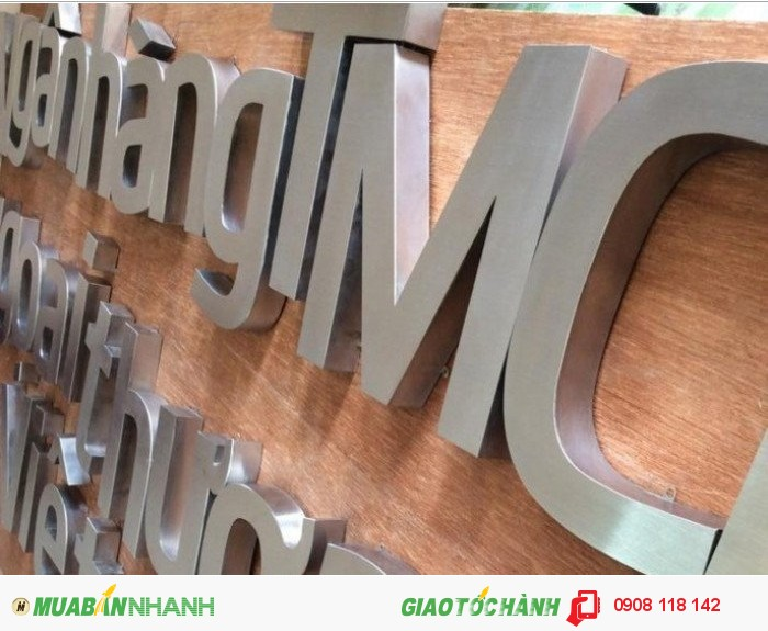 Chữ Inox xước là một loại chữ nổi inox có màu trắng xướt, người ta thường dùng chữ inox xước làm bảng hiệu, bảng quảng cáo 3D rất nổi bật và sang trọng.