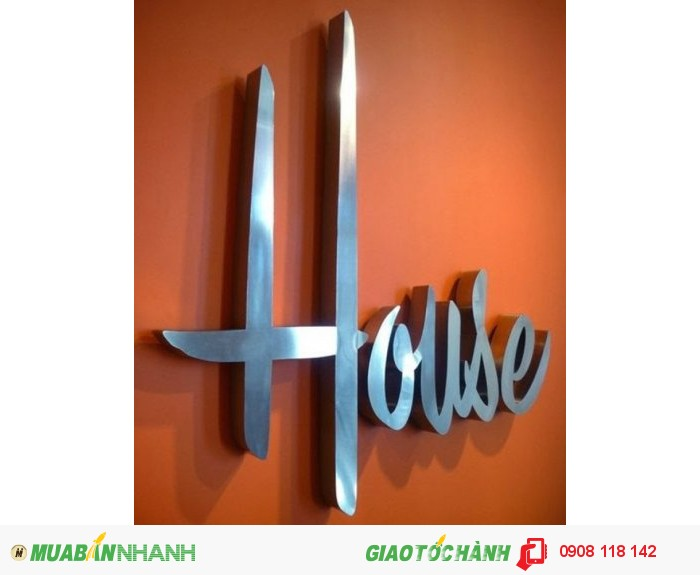 Công ty Ánh Sao Trẻ chuyên cung cấp chữ inox trắng ngoài trời đẹp cho nhà hàng, c...